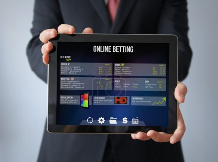 Online betting app on the screen