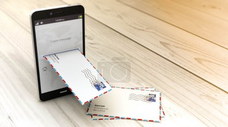 smartphone receiving e-mail