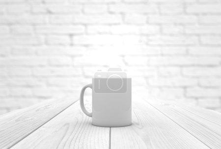 coffee mug on a wooden table