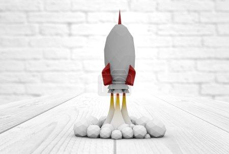 rocket launch mock up