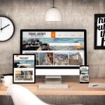Digital generated workplace desktop with digital t...