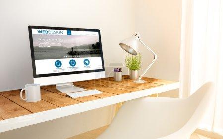 design website on screen computer