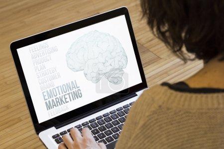 woman computer emotional marketing
