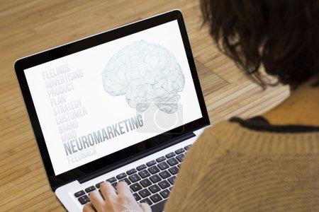 woman computer neuromarketing