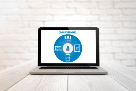 laptop with Omnichannel strategy