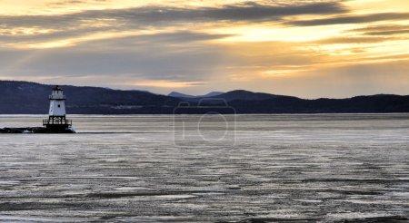 Harbor Light on Lake Champlain at sunset...