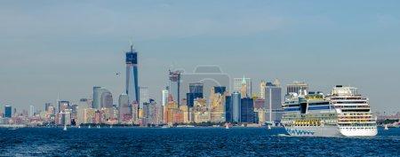 Manhattan Skyline over Hudson River