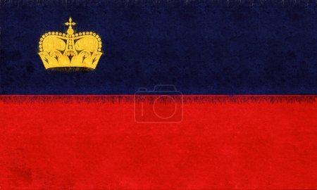 Flag of Liechtenstein Grunge