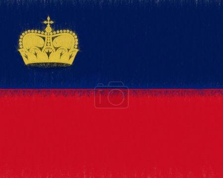 Flag of Liechtenstein Smudged