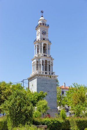 The bell tower of Argalasti village, Pelio, Greece