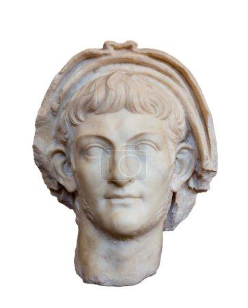 Portrait of Roman emperor Nero, isolated