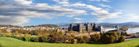Famous Conwy Castle in Wales, United Kingdom, seri...