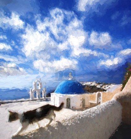 Fira town in Santorini island