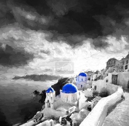Oia village in Santorini island