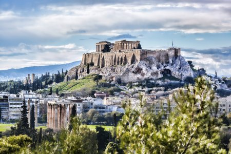 Photo for Famous Acropolis with Parthenon temple in Athens, Greece - Royalty Free Image
