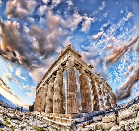 Photo for Famous Parthenon temple on the Acropolis in Athens, Greece - Royalty Free Image
