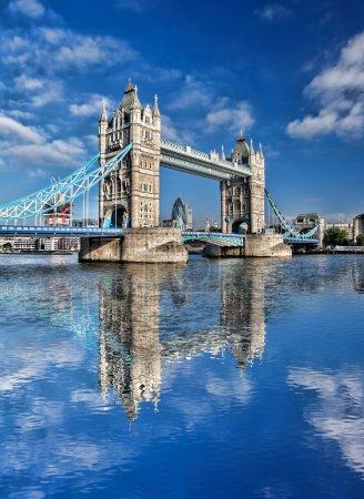Famous Tower Bridge in London, England, UK