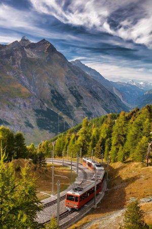 Zermatt Train in Swiss Alps, Switzerland