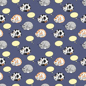 Cute Cats Dreaming Seamless Pattern
