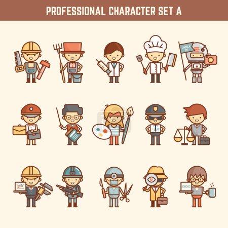 Photo pour Illustration de jeu de caractères professionnel - image libre de droit