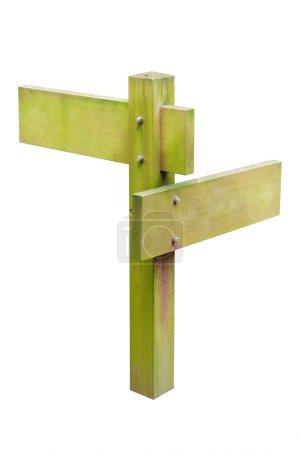 Photo pour Panneau en bois isolé sur blanc - image libre de droit