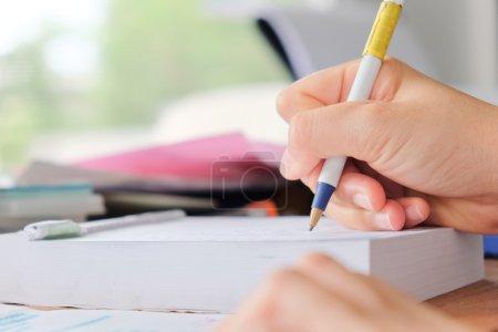 women hand writing