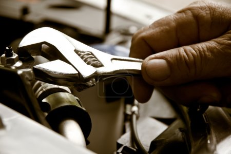 Photo for Professional car mechanic, auto repair concept - Royalty Free Image