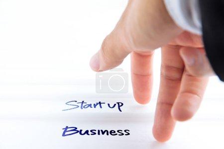 Foto de Imagen abstracta del concepto de start up business - Imagen libre de derechos