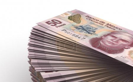 Photo for Stack of Mexican Pesos - Royalty Free Image