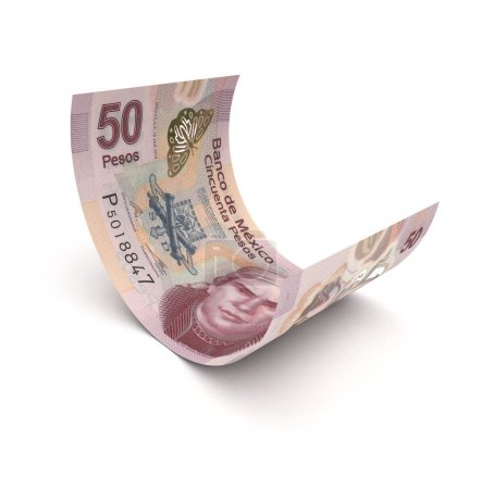 Curled Up Mexican Pesos
