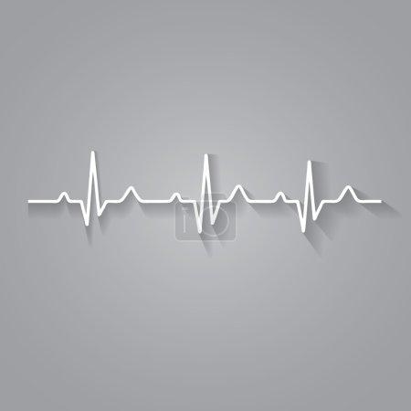 Vector Illustration heart rhythm ekg .vector...