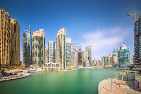 Photo pour Le panorama beauté des gratte-ciel de Dubai Marina. UAE - image libre de droit