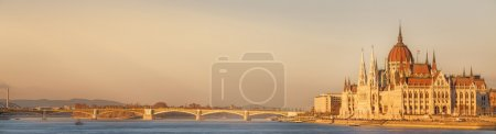 Photo for View of hungarian Parliament building at twilight in Budapest, Hungary - Royalty Free Image