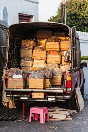 Van full of boxes