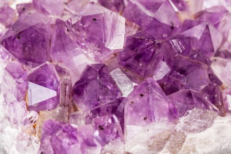 Macro shot of some vibrant edgy amethyst crystals...