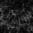Abstract digital background with cybernetic partic...