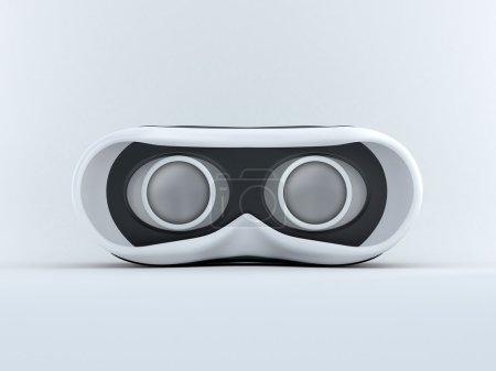 Photo pour Lunettes pour réalité virtuelle en 3D. Vue de face avec écran éteint . - image libre de droit
