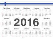 Vector Finnish circle calendar 2016 Week starts from Sunday