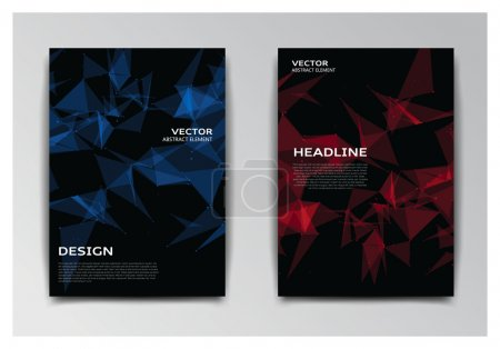 Template of booklet with abstract elements