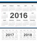 Vector Estonian circle calendars 2016 2017 2018 Week starts from Sunday
