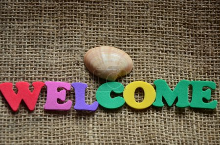 Welcome word on a abstract background...