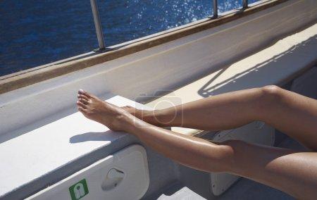 sun tan on boat