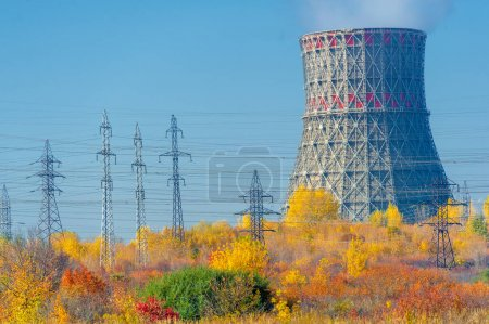 Photo for Industrial landscapes are a fact to which our attention is riveted, because they contain their own elements, which in themselves are historical parts that transform the physiognomy of places - Royalty Free Image