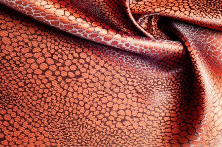 texture silk cloth. brown patterned