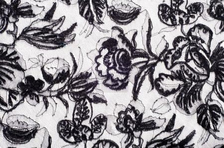Photo pour Dentelle de texture. un tissu fin ouvert, généralement un coton ou soie, faite par une boucle, la torsion ou thread dans patrons de tricot et utilisée surtout pour tailler des vêtements. - image libre de droit