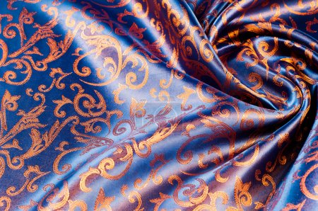 The texture of the silk fabric.