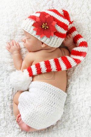 Newborn Christmas baby
