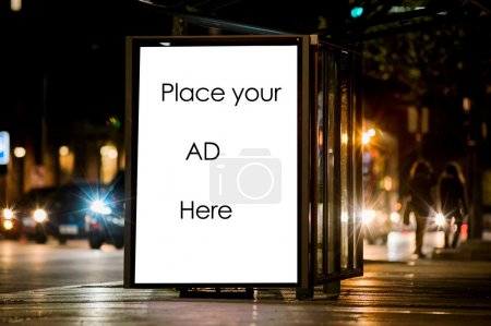Blank outdoor advertising bus shelter