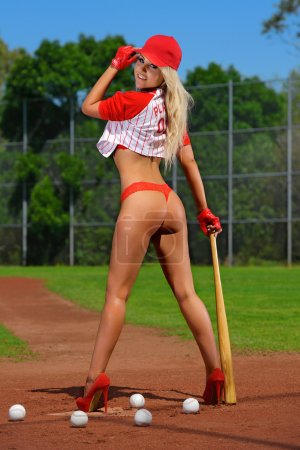 Hot  baseball girl