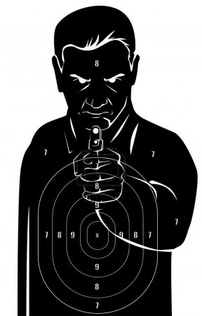 Black human target